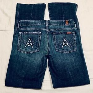 """7 For All Mankind """"A Pocket"""" jeans size 30"""